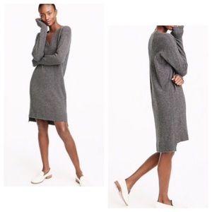 J. Crew V Neck Sweater Dress Wool Nylon Alpaca NWT